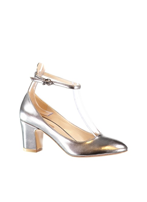 Elle Shoes      17YN9836 Kurşun Kadın Topuklu Ayakkabı